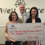 Well Care Donates $1,000 to Cape Fear American Heart Association